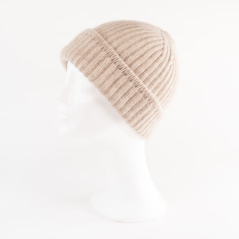 Classic,Ribbed,Beanie,Cuff,-,OATMEAL,Classic ribbed Beanie Cuff cashmere italy unisex men woman light hell braun Brown oatmeal beige