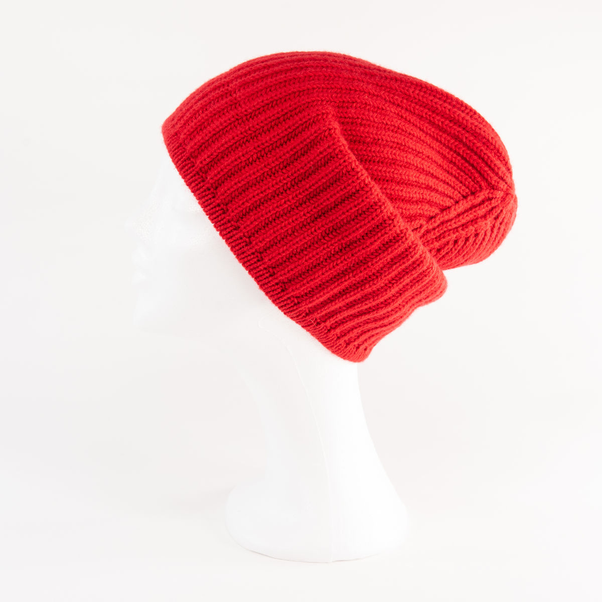 Classic Ribbed Beanie Cuff - RED! - product images  of