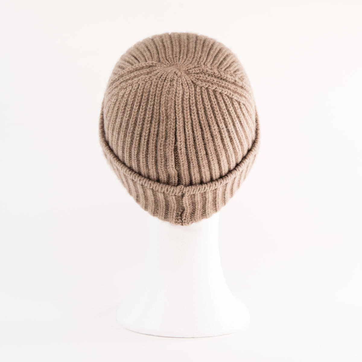 Classic Ribbed Beanie Cuff - MEDIUM BROWN - product images  of