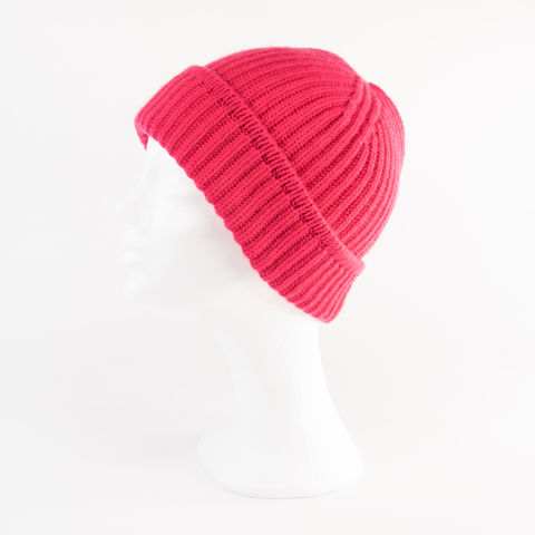 Classic,Ribbed,Beanie,Cuff,-,Almost,NEON,PINK,Classic ribbed Beanie Cuff cashmere kaschmir italy unisex men woman pink neon almost rosa bright fuxia fuchsia
