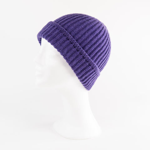 Classic,Ribbed,Beanie,Cuff,-,PURPLE,:),Classic ribbed Beanie Cuff cashmere kaschmir italy unisex men woman pink lila purple viola violett violet