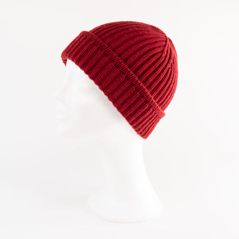 Classic,Ribbed,Beanie,Cuff,-,BORDEAUX,Classic ribbed Beanie Cuff cashmere kaschmir italy unisex men woman bordeaux rot red carnelian