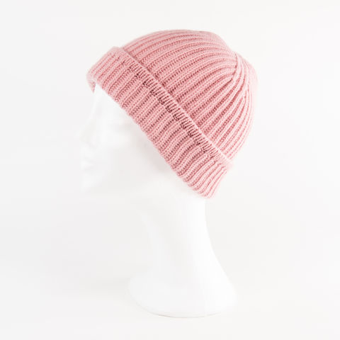 Classic,Ribbed,Beanie,Cuff,-,DUSTY,ROSE,Classic ribbed Beanie Cuff cashmere kaschmir italy unisex men woman dusty rose altrosa rosa