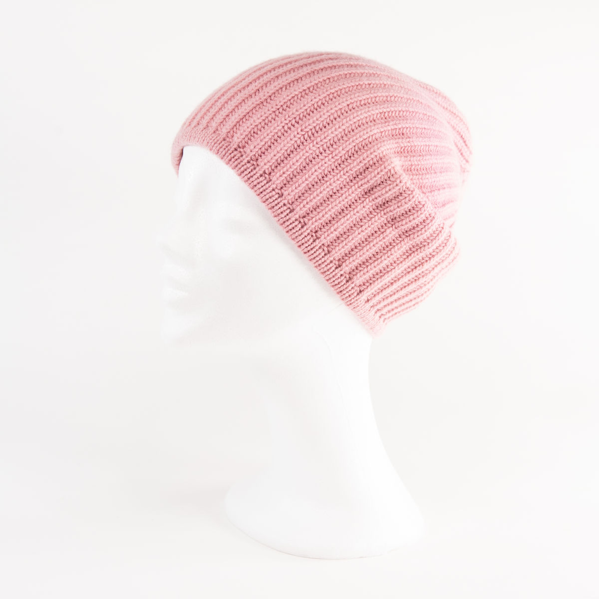 Classic Ribbed Beanie Cuff - DUSTY ROSE - product images  of