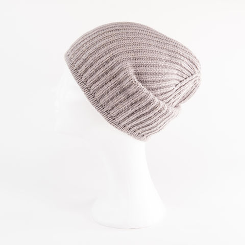 Classic,Ribbed,Beanie,Cuff,-,TAUPE,Classic ribbed Beanie Cuff cashmere kaschmir italy unisex men woman taupe brown grey braun grau