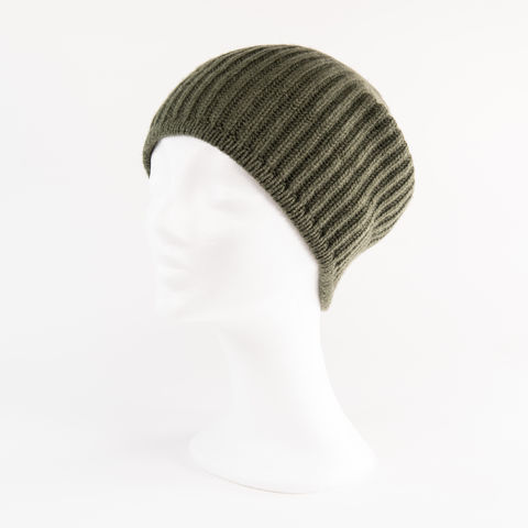 Classic,Ribbed,Beanie,Cuff,-,OLIVE,Classic ribbed Beanie Cuff cashmere kaschmir italy unisex men woman olive military green grün dark dunkel