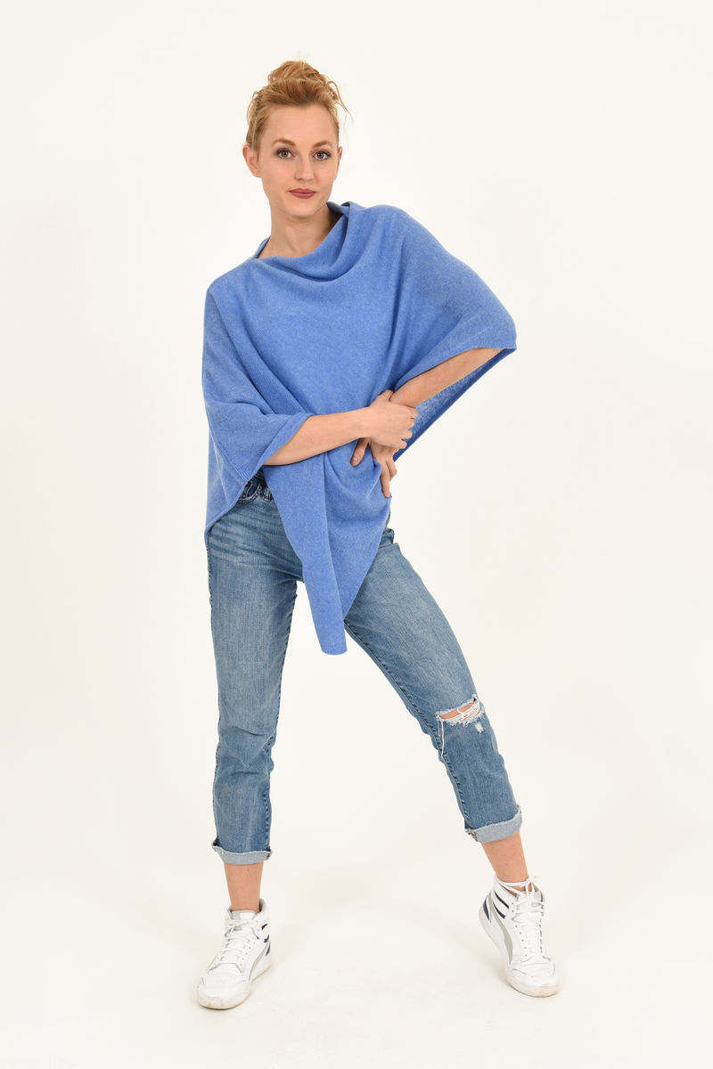 Poncho - Dress Topper - Periwinkle Blue - product images  of