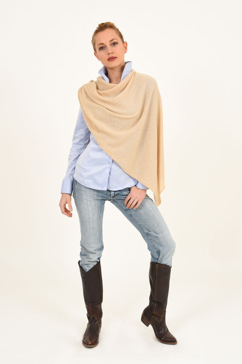 Poncho - Dress Topper - Wheat - product images  of