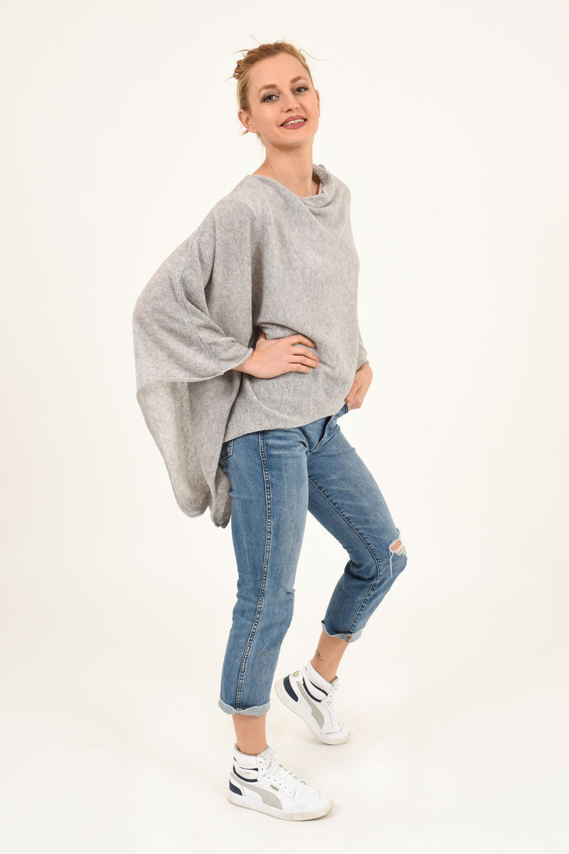 Poncho - Dress Topper - Silver Grey - product images  of