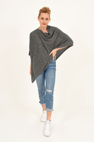 Poncho,-,Dress,Topper,Salt,and,Pepper,Poncho - Dress Topper Cashmere Kaschmir Salt and Pepper Gestrickt Poncho