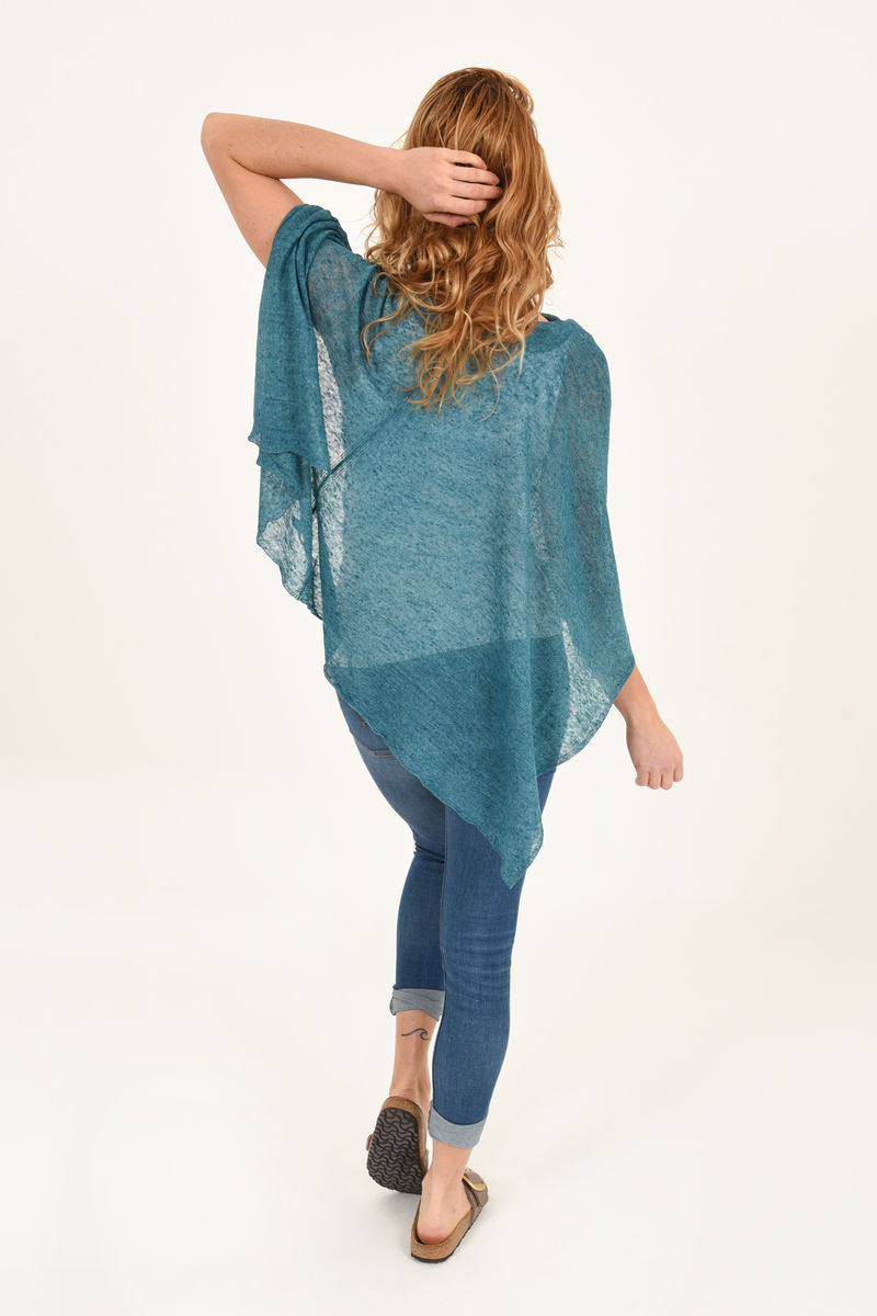 Poncho 100% Linen - Jade - product images  of