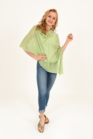 Poncho,100%,Linen,-,Apple,Poncho 100% Linen Apple