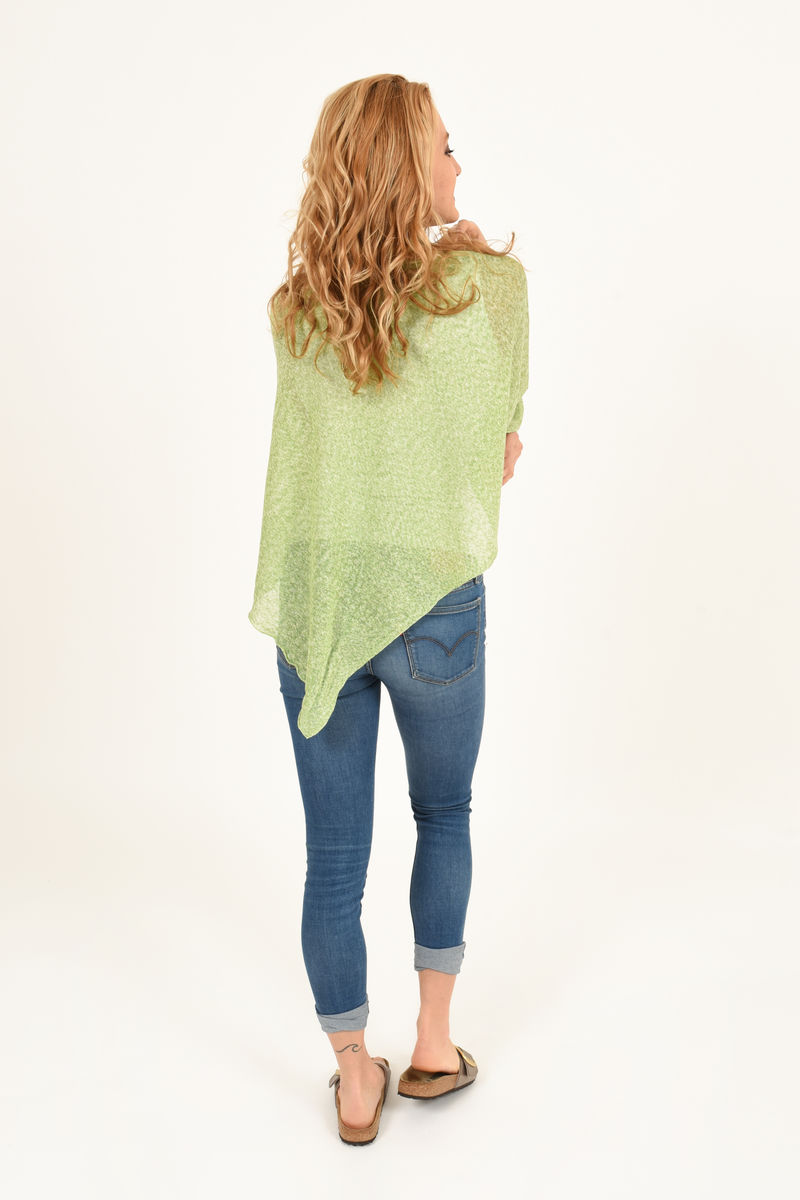 Poncho 100% Linen - Apple - product images  of