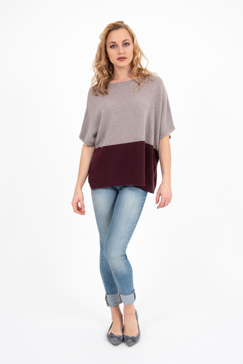 Sweater - Two Tone - Taupe/Mosto - product images  of