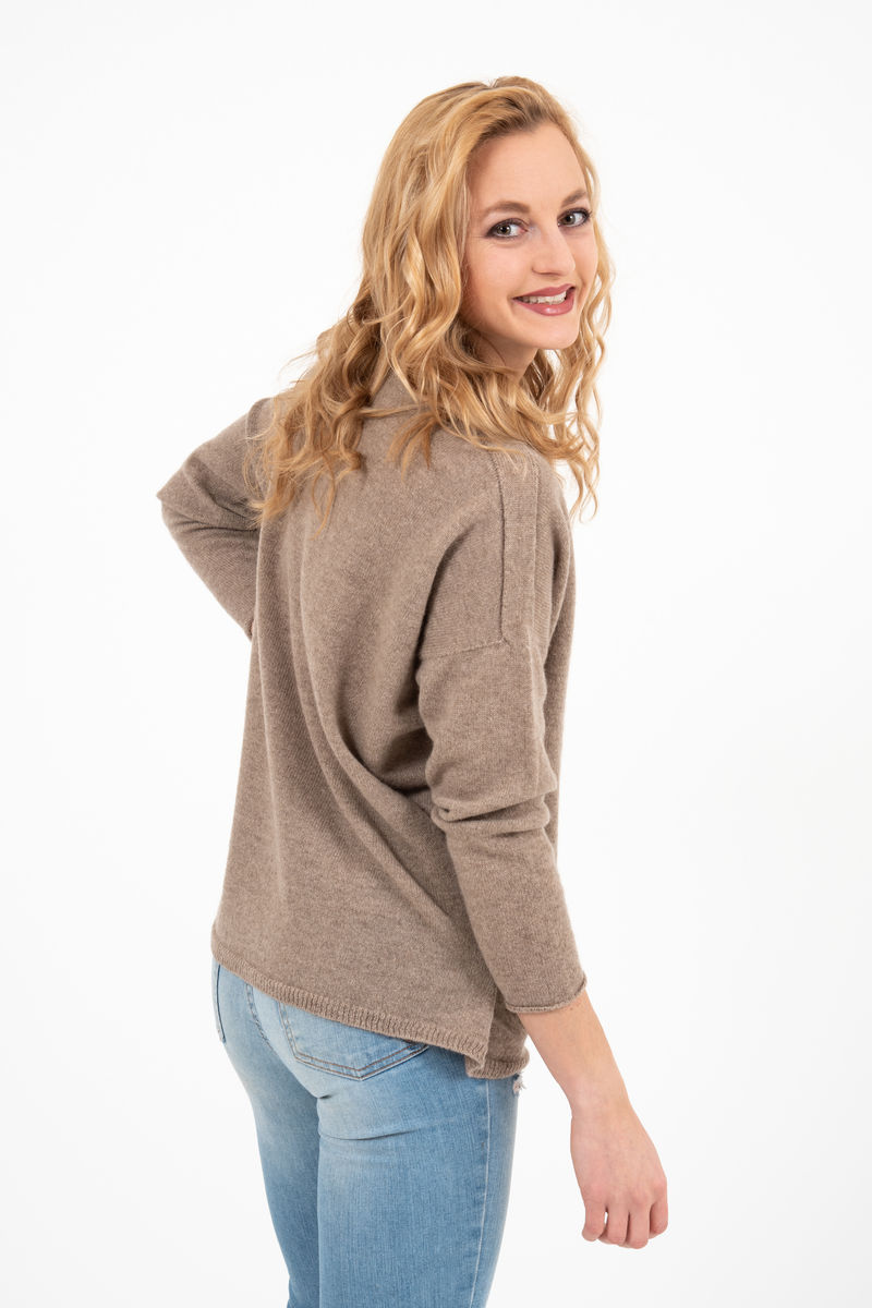 Sweater - Boat Neck - Brown - product images  of