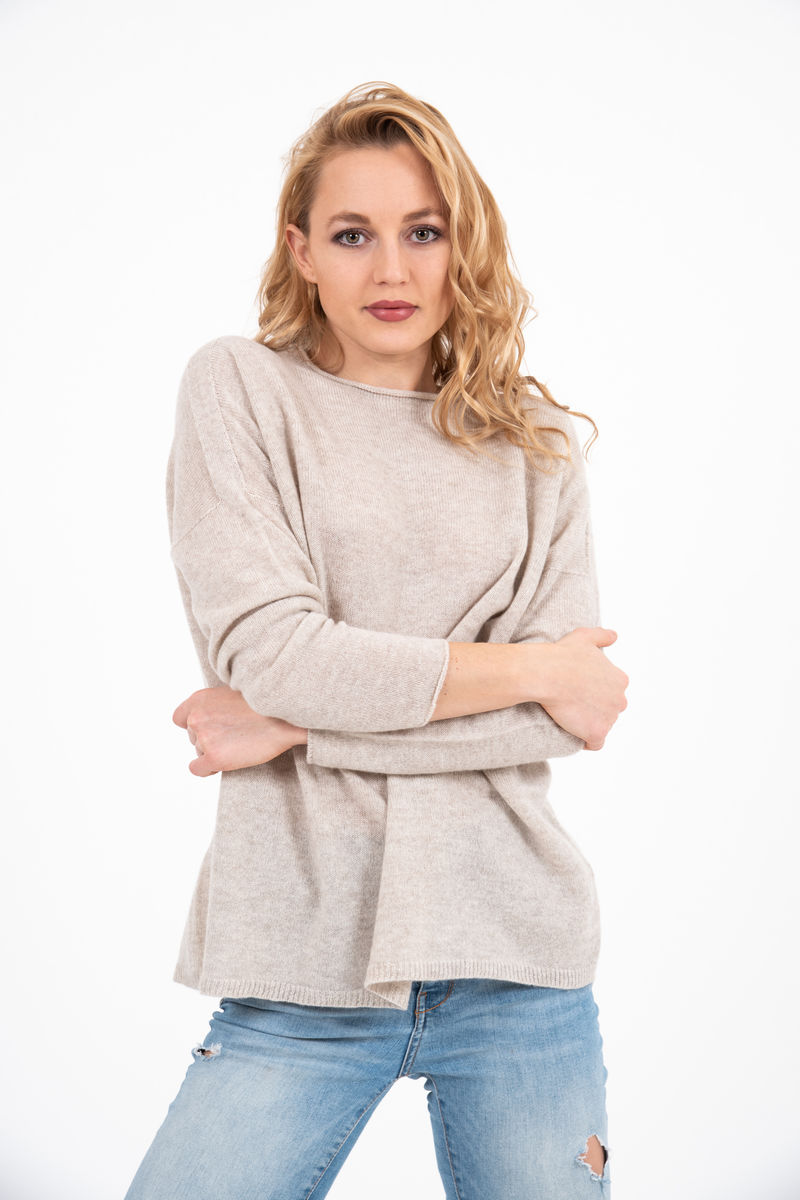 Sweater - Boat Neck - Oatmeal - product images  of
