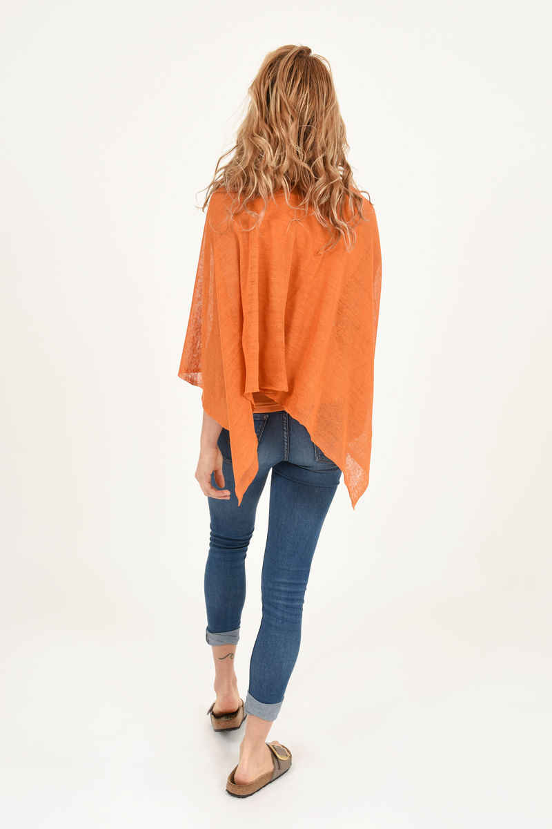 Poncho 100% Linen - Orzo - product images  of