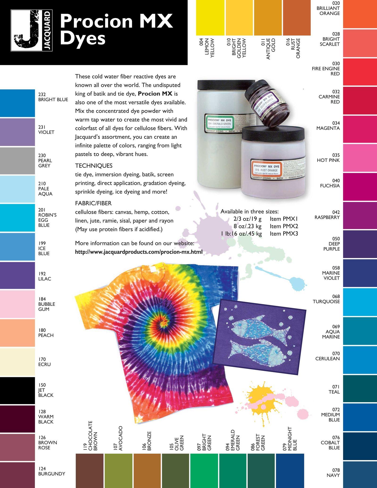 Jacquard procion mx dyes for cotton linen plant cellulose jacquard procion mx dyes for cotton linen plant cellulose fiber nvjuhfo Images