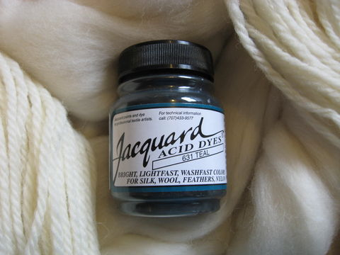 Jacquard,Acid,Dye,,Teal,631,,for,Wool,,Silk,,,Feathers,,Nylon,,and,Other,Protein,Fibers,Dye, acid dye, Teal, acid wool dyes, acid fiber dyes, Jacquard , Jacquard  Teal, vinegar dye, fiber dye, synthetic dye, Jacquard dye, Jacquard Teal Dye, BrushCreekWoolWorks, Brush Creek Wool Works