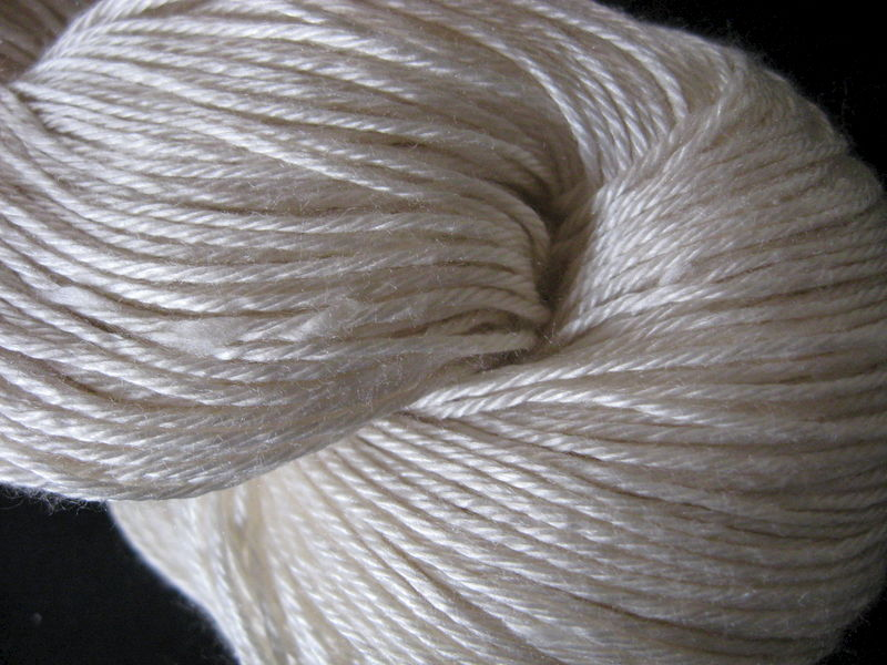 Venice Silk Yarn, White - product images  of