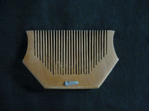 Harp,Shaped,Wooden,Comb,comb, hair comb, wooden comb, harp comb, hairtool, grooming, hair grooming, BrushCreekWoolWorks, Brush Creek Wool Works