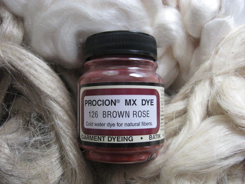 Jacquard,Procion,MX,Dye,,Brown,Rose,126,,for,Plant,Cellulose,Fibers,dye, Jacquard dye, Brown Rose, Brown Rose dye, brown dye, rose dye,  tie dye, plant dye, cellulose dye , Procion MX dye, Procion dye, cotton dye, linen dye, flax dye, bamboo dye, basket dye, ramie dye,  BrushCreekWoolWorks, Brush Creek Wool Works