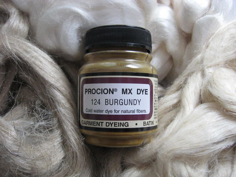 Jacquard,Procion,MX,Dye,,Burgundy,124,,for,Plant,Cellulose,Fibers,dye,Jacquard dye, Burgundy, Burgubdy dye, red dye,  tie dye, plant dye, cellulose dye , Procion MX dye, Procion dye, cotton dye, linen dye, flax dye, bamboo dye, basket dye, ramie dye,  BrushCreekWoolWorks, Brush Creek Wool Works