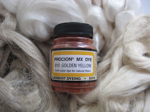 Jacquard,Procion,MX,Dye,,Bright,Golden,Yellow,010,,for,Plant,Cellulose,Fibers,dye, Jacquard dye, Golden Yellow , Golden Yellow dye, yellow dye,  tie dye, plant dye, cellulose dye , Procion MX dye, Procion dye, cotton dye, linen dye, flax dye, bamboo dye, basket dye, ramie dye,  BrushCreekWoolWorks, Brush Creek Wool Works