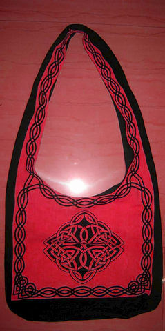 Celtic,Design,Sling,Bag,in,Red,bag, tote, sling bag, Celtic bag, Celtic tote, sling tote, red bag, book bag, BrushCreekWoolWorks, Brush Creek Wool Works