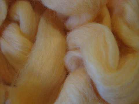 Apricot,New,Zealand,Dyed,Wool,Roving,,spinning,roving, apricot, apricot roving, apricot wool, spining roving, wool roving,  sliver,carded,weaving,yarn,scoured,wool, BrushCreekWoolWorks,  Brush Creek Wool Works