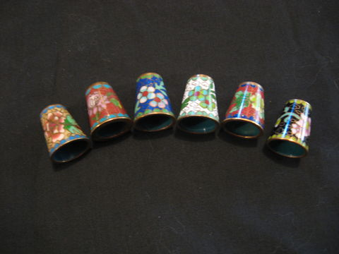 Cloisonne,Thimbles,thimble, cloisonne, cloisonne thimble, sewing, embroidery, sewing tool, embroidery tool, BrushCreekWoolWorks, Brush Creek Wool Works