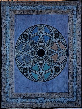 Celtic,Circle,Throw,,Blue,throw, tapestry, Celtic throw, Celtic tapestry, Celtic knot work,  cotton throw, bedspread, twin bedspread, BrushCreekWoolWorks, Brush Creek Wool Works