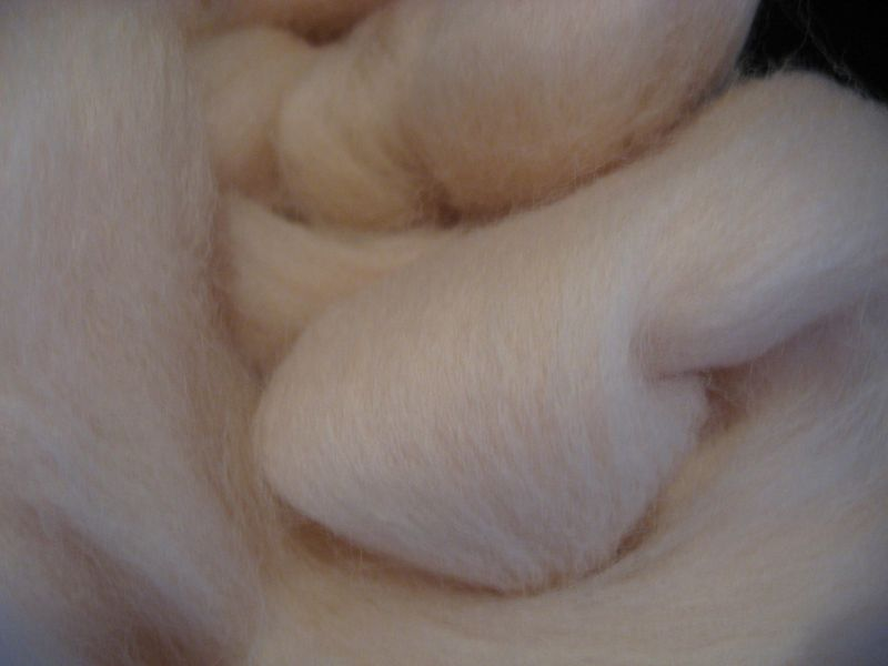 Flesh Color Wool Roving - product images  of