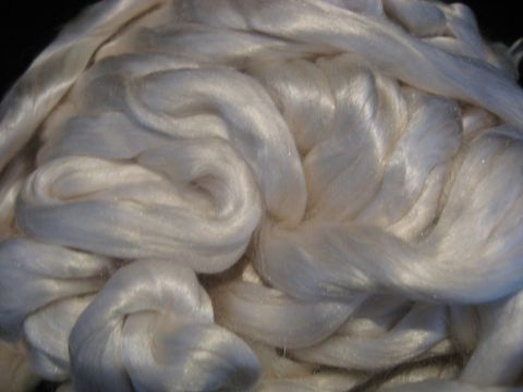 Cultivated,Silk,Spinning,Top,fiber, silk, white, spinning, roving, silk roving, cultivated silk, Bombyx mori , sericulture,white silk roving, spinning silk ,spinning fiber, BrushCreekWoolWorks, Brush Creek Wool Works