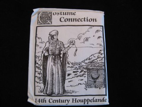 Late,Medieval,Men's,Houpplelande,and,Liripipe,Pattern,by,Costume,Connection,houpplelande pattern, liripipe pattern, clothing pattern, historical pattern, medieval pattern, garb pattern, Costume pattern,Costume Connection, 14th century pattern, period pattern, pattern, men clothing pattern, BrushCreekWoolWorks, Brush Creek Wool Wo