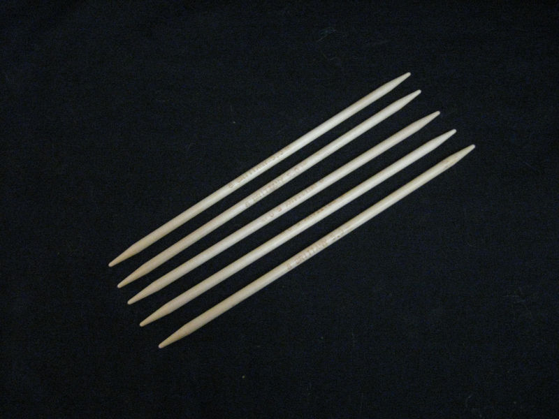 Brittany Double Point Knitting Needles, 7 1/2 inches, Set of 5 needles, Wood - product images  of