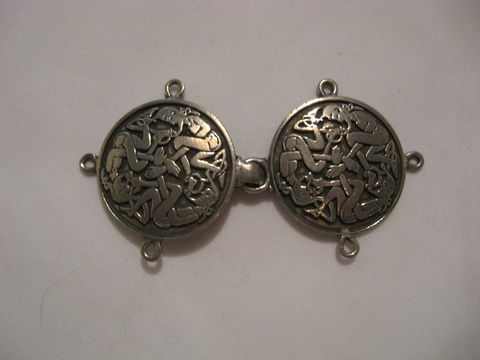 Celtic,Knotwork,Pewter,Clasp,,,Elf,Design,clasp, pewter ,pewter clasp ,Celtic Clasp ,Celtic pewter clasp , Celtic Elf clasp , Celtic knotwork, cloak clasp, cape clasp , garb clasp, clothing clasp, knotwork clasp, BrushCreekWoolWorks, Brush Creek Wool Works