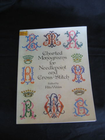 Charted,Monograms,for,Needlepoint,and,Cross,Stitch,edited,by,Rita,Weiss,monograms, charted monograms, needlework, cross stitch, needle point, latch hooking, crochet, knitting, Rita Weiss, BrushCreekWoolWorks, Brush Creek Wool Works