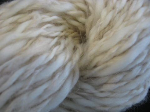 Cream,Angora,Merino,Wool,Hand,Spun,Yarn.,2,ply,yarn, hand spun yarn, handspun, angora angora rabbit, wool yarn,  angora yarn, Merino yarn, 2 ply, knotting, crochet, BrushCreekWoolWorks, Brush Creek Wool Works
