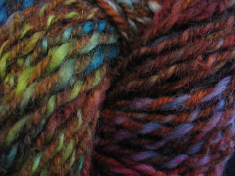 Calypso,Hand,Spun,,Mill,Dyed,Wool,Yarn,yarn, wool yarn, wool, hand dyed, hand spun, 2 ply, multi color , knitting, crochet, weaving. Calypso, BrushCreekWoolWorks, Brush Creek Wool Works