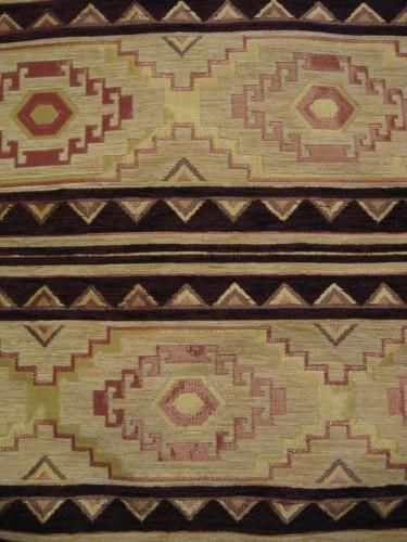 Square Pillow Cover Turkish Geometric Wide Design Rust Brown Cream - product images  of