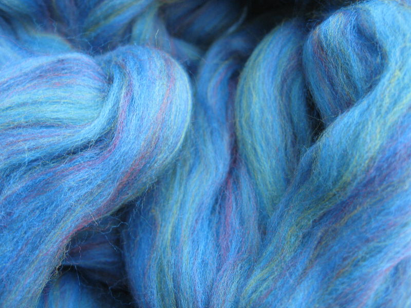 Baltic Multi color Merino Wool Roving - product images  of