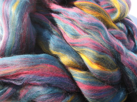 Borealis,Multi,color,Merino,Wool,Roving,wool, roving, spinning, spinning roving, spinning wool, borealis, blue, blue roving, merino roving, multicolor roving, wool roving, BrushCreekWoolWorks, Brush Creek Wool Works