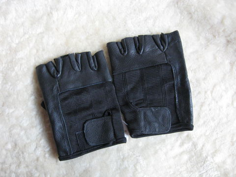 Fingerless,Leather,Gloves,,XX,Large,glove, fingerless, leather, biker, black, XX large, Brush Creek Wool Works, BrushCreekWoolWorks