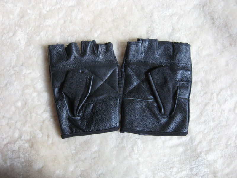 Fingerless Leather Gloves, XX Large - product images  of