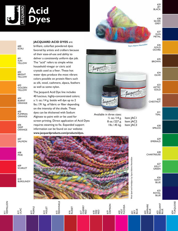 Jacquard Acid Dye, Scarlet 609, for Wool, Silk , Feathers, Nylon, and Other Protein Fibers - product images  of