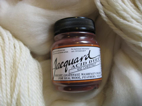 Jacquard,Acid,Dye,,Chestnut,632,,for,Wool,,Silk,,,Feathers,,Nylon,,and,Other,Protein,Fibers,Dye, acid dye, chestnut, acid wool dyes, acid fiber dyes, Jacquard , Jacquard Chestnut, vinegar dye, fiber dye, synthetic dye, Jacquard dye, Jacquard Chestnut Dye, BrushCreekWoolWorks, Brush Creek Wool Works