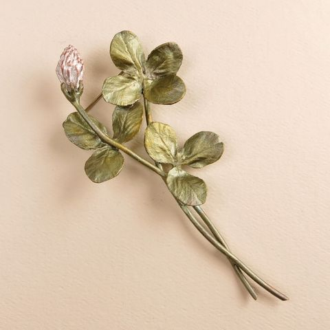 Clover,Spray,Pin,Clover Spray Pin, Silver Seasons Clover Spray Pin, Michael Michaud, Silver Seasons Jewelry, Clover Collection, Green, Pin, Brooch, Plant