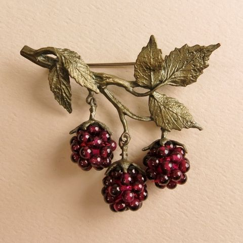 Raspberry,Pin,Raspberry Pin, Silver Seasons Raspberry Pin, Michael Michaud, Silver Seasons Jewelry, Raspberry Collection