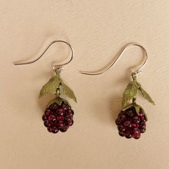 Raspberry Drop Earrings - product images 2 of 5